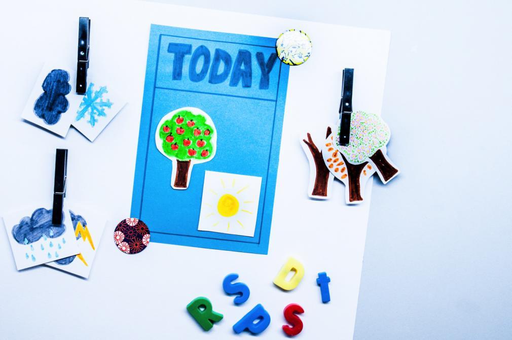 Ura, ce zi însorită! Diagrame meteo pentru copii