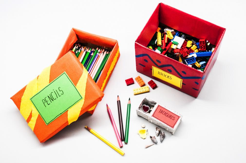 Fă ordine în cameră: vopsește & confecționează cutii