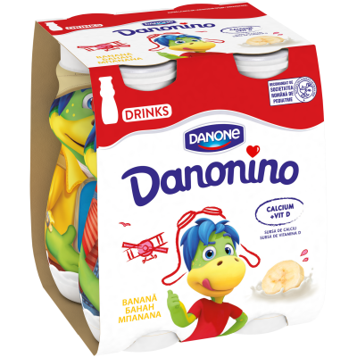 Danonino iaurt de băut cu banane 4x100g