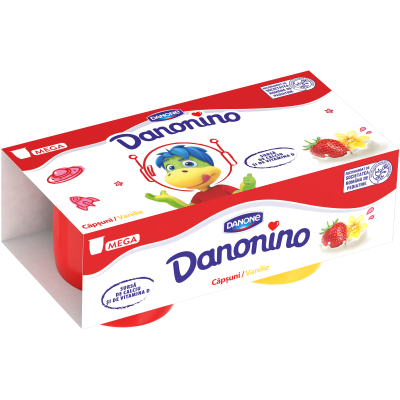 Danonino căpșuni/vanilie 2x90g