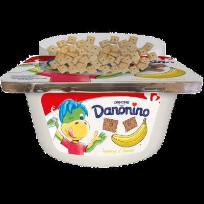 Danonino banane/topping de biscuiți cu unt 122g
