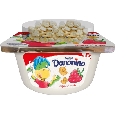 Danonino căpșuni/topping de biscuiți 122g